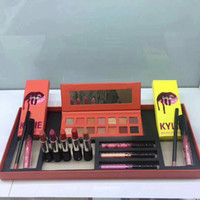 Wholesale matte lip palette resale online - Newest Hot Brand makeup set The Summer Collection Matte lipstick Eyeshadow palette Lip Gloss Cosmetics Kit DHL shipping