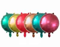 sonido del té al por mayor-Globo metálico perla de 18 pulgadas Globos de metal redondos Decoración de fiesta de cumpleaños Globos de papel de aluminio Decoración de fiesta de boda metalizada
