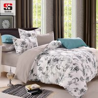 Wholesale bird comforter sets resale online - Sookie Queen Size Bedding Sets Pastoral Bird Printed Floral King Size Duvet Cover Set Pillowcases Comforter Cover Bed Linen