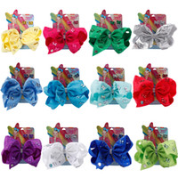 Wholesale clip hairbow for sale - 8 Large Crystal Hair Bows Rhinestone Knotted Hair Clip With Bling Butterfly Earring For Girls Gift Hairbow hair Accessories