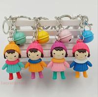 ingrosso tipi borse per ragazze-100 Pz / lotto Nuovo tipo di plastica cappello ragazza catena chiave creativo scolaro zainetto pendente ciondolo borsa donna all'ingrosso
