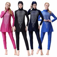 2b1b43ae3a Modest Full Cover Muslim Swimwear Plus Size Female Swimsuit Beach Bathing  Suit Burkinis For Muslim Costume For Lady