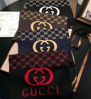 strickgarn kaschmir großhandel-Luxus-Herren-Schals Marke Cashmere-Schal Mode Herren und Damen Schals garngefärbte monogrammiert gestrickte Cashmere-Schals