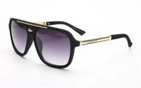gafas para animales al por mayor-2501 gafas de sol de moda de las mujeres diseñador de la marca de lujo plaza gafas de sol retro gafas de sol gafas de sol piloto clásico de alta calidad