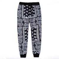 pantalones hip hop hombre großhandel-Schwarz Rot Herren Jogger Sweatpants Swag Pantalones Hombre Bandana Joggers Herren Hosen Hip Hop Frauen Hosen Streetwear Unisex M-2XL