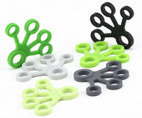 Wholesale hand grips exercises - Finger Puller Gripper Strength Finger Trainer Gym Strength Training Elastic Hand Grips Wrist Yoga Stretcher Finger Expander Exercise EEA306