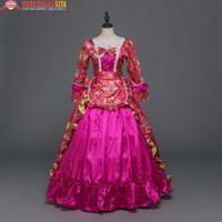 boule de rococo achat en gros de-Nouveau Holiday Marie Antoinette Vêtements Victorian Rococo Robe De Bal Renaissance Vintage Robe De Bal Inspiré Élégant Costumes