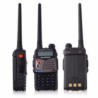 Wholesale hand held receiver - Walkie-talkie Baofeng Hand-held Transceiver FM Radio Receiver Walkie-talkie Interphone Scanner Dual Band EU Plug Dual-Standby