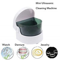 Wholesale Mini Cordless Ultrasonic Cleaner for Jewelry Necklace Coins Dentures Portable Ultrasonic Cleaning Machine Intelligent Jewelry Cleaner