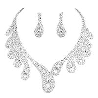 Wholesale party accessory for sale for sale - Rhinestones Necklace Earrings Jewelry Sets for Evening Party Shining Wedding Party Jewelry Bridal Accessories Hot Sale