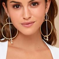 три круглых серьги оптовых-designer jewelry hoop charm earrings different size three circle round geometry earrings for women hot fashion