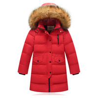 перо вниз зимние пальто девочки оптовых-Children Winter Jacket Made of  Feather Winter for Girls Boys Parka Coat Child Duck Down Clothes Outwear Kids Down Jacket
