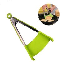 Wholesale resistance tongs resale online - Clever Tongs in Kitchen Spatula And Tongs Non Stick Heat Resistance Kitchen Tongs Tools KKA4545