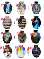 Wholesale Hoodie For Girls - 3D Print Galaxy Pullover Hoodies Men Women's Long Sleeve Hoodies With Hat Clothing Loose Size M-XXXL Jacket Tops For Girls Boys Gifts