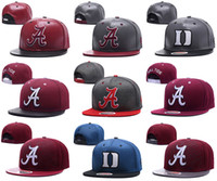 Wholesale usa d - NCAA Duke Blue Devils snapbacks mens Alabama hats Reflective Design caps USA College Letter A D Logo Adjustable Caps