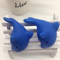 ingrosso gioca il bambino delfino-New Fashion Dolphin Shape Bambini Swiming Giochi d'acqua Baby Bath Toy Colorful LED Lampeggiante Cambia lampada per bambini Baby Toy