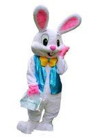 traje de la mascota del conejo de conejito de pascua al por mayor-Alta calidad profesional caliente Hacer TRAJE DE MASCOTA DE PASCUA PROFESIONAL Bugs Rabbit Hare Adulto Fancy Dress Cartoon Suit