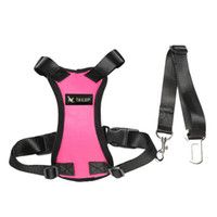 Wholesale fabric harness - Dog Car Multifunction Adjustable Vest Harness Breathable Mesh Fabric with Car Vehicle Safety Seat Belt for Dogs Travel Walking Trip