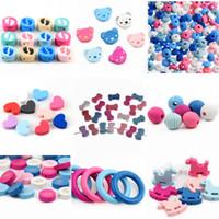 hölzerne perlen halskette schmuck großhandel-Vielzahl Holzperlen Spacer Perlen Holzperlen Spielzeug für Baby Kinder Spielzeug Schmuck Machen DIY Armband Halskette