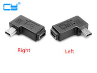 Wholesale right angled usb adapter resale online - Mini USB elbow male to female degree adapter Left and right angle Mini USB pin Extended adapter