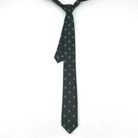 tissage plus proche achat en gros de-Cravate BON Teed Quanlity 2 pouces de large Crâne de mode Cravate noire Polyester tissé Classique Men`s Party Cravate Gravata Close Close