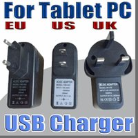 Wholesale phones tablets 3g 4g for sale - Group buy EU US UK Plug Universal USB Charger AC Power Adapter for Q88 A33 G G inch Tablet PC Cell phone V A C PD