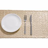 Wholesale table glitter for weddings - Light Gold Sequin Table Runner Sparking Glitter DIY for Wedding Christmas Baby Shower