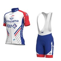 Wholesale team fdj - 2018 Team FDJ cycling jersey 9D gel pad bike shorts set MTB Ropa Ciclismo sobycle mens summer bicycling Maillot wear