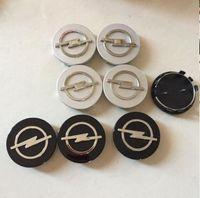ingrosso emblemi per i tappi del centro ruota-4 pezzi 59mm Opel Emblem Centro ruota Coprimozzo Copri Car Styling Misura per Opel