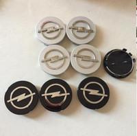 radmittenkappen embleme großhandel-4pcs 59mm Opel Emblem Radmitte Radkappenabdeckungen Car Styling Fit für Opel