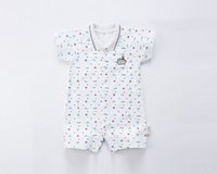 Wholesale autumn baby products - 2018 summer and autumn class AAA new products gowns baby cotton one piece haberd short sleeved sleeves Climbing suit