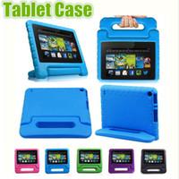 caso ipad 9.7 al por mayor-Caso niños de los niños manija del soporte de la espuma de EVA suave a prueba de golpes de la tableta para Apple iPad Mini 2 3 4 Protector Aire ipad pro 9.7