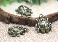 Wholesale ladybird ladybug online - 12pcs Ladybug Charms Antique bronze Ladybird Pendants Charms Lady Beetle x22mm