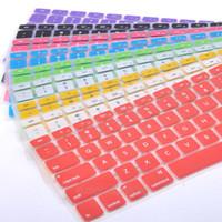 teclado de maçã 13 venda por atacado-Yunrt protetor de teclado capa de silicone pele para apple macbook pro mac 13 15 air 13 teclado macio adesivos