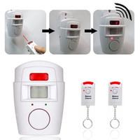 mp sensor venda por atacado-Home Security PIR MP Alerta Sensor Infravermelho Detector De Movimento Anti-roubo Alarme Monitor Sem Fio Alarme controle remoto