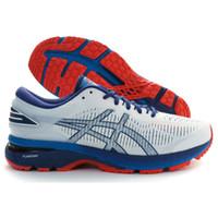 zapatos de color azul oscuro al por mayor-Marca ASICS GEL-KAYANO 25 Originales Nuevo Blanco Rojo Oscuro Azul para hombre Zapatillas deportivas para hombre Zapatillas para correr Zapatos deportivos de diseñador para caminar