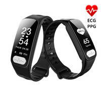 Wholesale wholesale outdoors thermometer - R11 ECG PPG Smart Band 0.96 inch Screen Heart Rate Blood Pressure Sleep Monitor Smart Wristband With Call SMS Reminder Thermometer GIFT