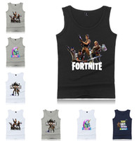 Wholesale summer clothing style for men for sale - New style fortnite vest bodybuilding Tank Tops slimming men casual vest Suitable for summer Men s Tank Tops home clothing T5B003