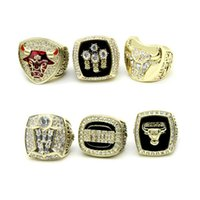 Wholesale basketball rings wholesale for sale - Custom basketball championship ring set Chicago Bulls National Basketball Championship Ring