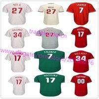 Wholesale Youth Baseball Jerseys - Mens Youth Womens 27 Aaron Nola 17 Rhys Hoskins 34 Roy Halladay 20 Mike Schmidt Maikel Franco Custom Home Away Philadelphia Baseball Jerseys