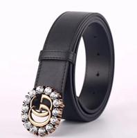 hebilla de jeans de marca al por mayor-Nuevo 2018 Correa de lujo de moda Italia Diseñador de marca cinturones de negocios de alta calidad para hombre para mujer Carta hebilla Jeans de impresión Cinturones