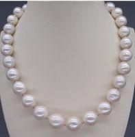 keshi renacidas perlas barrocas al por mayor-Envío Gratis 12-13mm Genuino Natural Blanco Barroco Reborn Keshi collar de perlas de 18 pulgadas