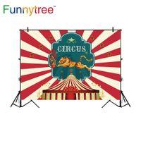 rociar carpas al por mayor-Fondos al por mayor para estudio de fotografía rayas de circo tienda tigre estrellas niños telón de fondo photocall photobooth foto prop
