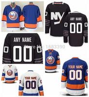 ch jerseys al por mayor-Factory Outlet, Hombres Custom New York Islanders Alternate Jersey Black Personalizados authentic NY Islanders Hockey jerseys Ch personalizada