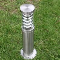 фонарные столбы оптовых-Открытый столб полюс столбик столб света столб лампы из светодиодов современные из нержавеющей стали водонепроницаемый открытый газон лампы переменного тока 85-265 В