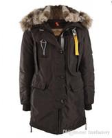 Wholesale Fashionable Hats - 2017 Hot Sale Parajumpers women's kodiak down Jacket Hoodies Fur Fashionable Winter Coats Warm Parka Free shipping