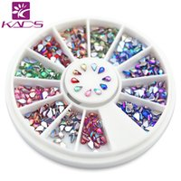 Wholesale Rhinestones Nail Art Mm - Wholesale- KADS AB 1.5*3 mm Drop nail Rhinestones Nail Art Rhinestones Glitter Acrylic Tips Decoration Manicure colored rhinestones