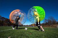 fútbol burbuja para la venta al por mayor-Envío gratis 1.5 M 100% PVC Bubble Soccer, Body Zorb, Bumper Ball, Human Hamster Ball, Bubble Football en venta