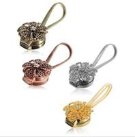 ingrosso nuovi accessori per la casa oro-Nuova casa oro argento fiore Wire Tende Tieback magnete tende fibbia magnetica supporto tenda accessori cinghia cinturino