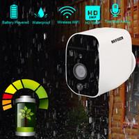 cámara impermeable sin hilos del cctv del ir al por mayor-DAYTECH Batería 1080P con cámara IP inalámbrica WiFi Cámara de vigilancia HD de 2MP HD CCTV a prueba de agua en el exterior IR de grabación de audio